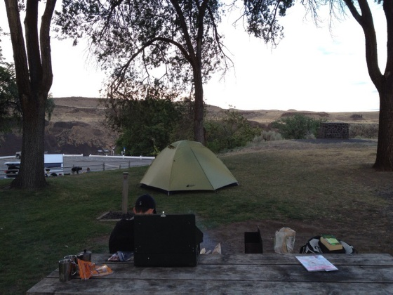Campground at Palouse Falls State Park.  Just 10 spaces!